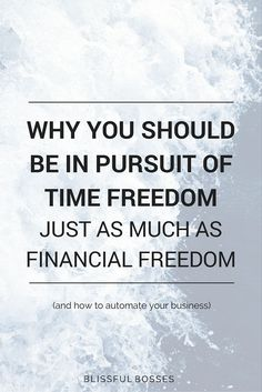 Why you should be pursuing time freedom just as much as financial freedom as an entrepreneur in online business and how to automate your business to gain that time freedom. Click through to see how I work 3 hours a day and make a full-time income!