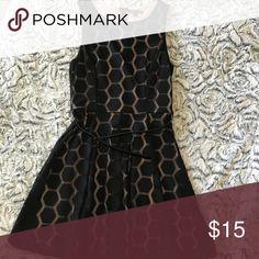 Black dress Black above the knee dress, comes with belt Dresses Midi