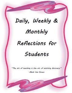 Daily, Weekly and Monthly Student Reflections College Hacks, College Life, Skills To Learn, Group Work, Growth Mindset, Are You The One, Helpful Hints, Meant To Be, Reflection
