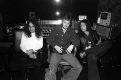 Dio, producer Martin Birch and Ritchie Blackmore.