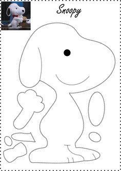 Bildergebnis für snoopy feltro passo a passo Felt Crafts Patterns, Applique Patterns, Sewing Patterns, Felt Doll Patterns, Sewing Toys, Sewing Crafts, Sewing Projects, Craft Projects, Felt Christmas Ornaments