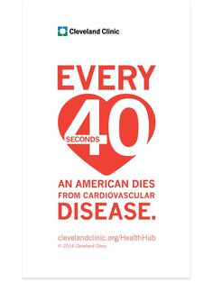 Every 40 seconds an American dies from cardiovascular disease. #heart