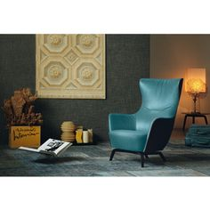 The Poltrona Frau Mamy Blue Armchair is an elegant leather lounge chair from Roberto Lazzaroni. Living Spaces Furniture, Sofa Furniture, Modern Furniture, Furniture Design, Space Furniture, Contemporary Armchair, Blue Armchair, Modular Sofa, Take A Seat