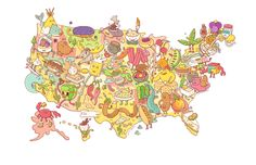 The Best Food Festival in Every U. State-Eat your way across America with this ultimate map of foodie celebrations. Beautiful Scenery Pictures, U.s. States, United States, Food Festival, Food Lists, Us Foods, Travel Usa, Trip Planning, Illustration
