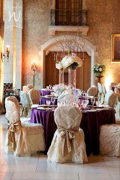Banff Wedding in Mount Stephen Hall - purple and gold wedding