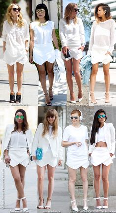 Blue is in Fashion this Year: How to Wear: Zara Skort in Total White