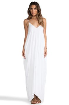 White maxi. Dress it up with accessories or keep it simple for a casual look.