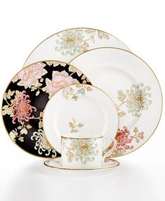 Marchesa by Lenox Dinnerware, Painted Camellia Collection | macys.com