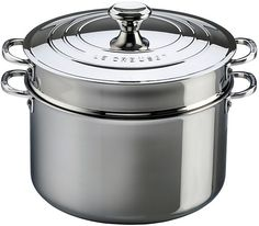 Le Creuset Stainless Steel 9-Quart Stockpot With Lid