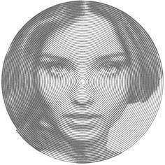 custom digital portrait from photo custom portrait custom Optical Illusion Photos, Illusion Art, Digital Portrait, Portrait Art, Portraits From Photos, Photographs, Spiral Art, Reflection Art, Halftone Pattern