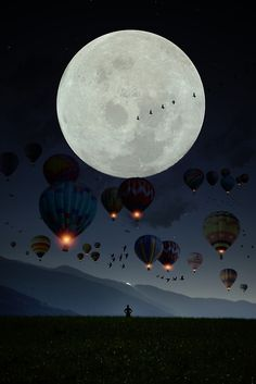 'Human facing the moon and balloons by GEN Z' Metal Print by Gen-Z Ciel Sombre, Balloon Flights, Z Arts, Family Birthdays, Dark Skies, Ballon, Les Oeuvres, How To Memorize Things, Gallery Wall