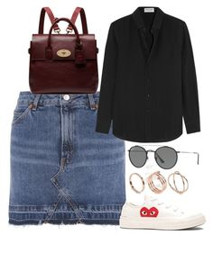 """Untitled #6156"" by rachellouisewilliamson on Polyvore featuring Topshop, ASOS, Yves Saint Laurent, Play Comme des Garçons, Mulberry and Ray-Ban"