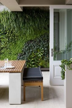 Bring the garden right up to the indoors, with a wall of foliage and planters. More tips and inspiration at www.gildedattics.com