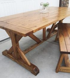 60 Year Old Reclaimed Barn Wood Dining Table Two Benches