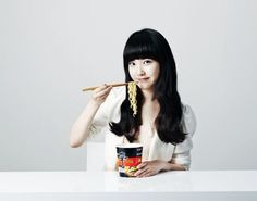 IU endorses Nongshim's 'Black Shin Cup Ramen' #allkpop #kpop #IU