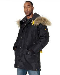 PARAJUMPERS Kodiak Men Black Masterpiece Down Coat