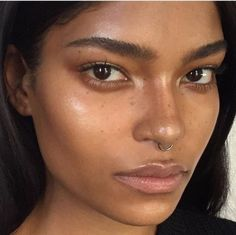 A little bit of highlighter adds magic to naturally sun-kissed skin