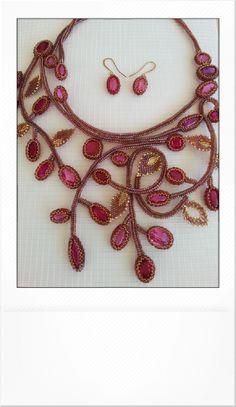 Рубиновое колье. | biser.info - всё о бисере и бисерном творчестве