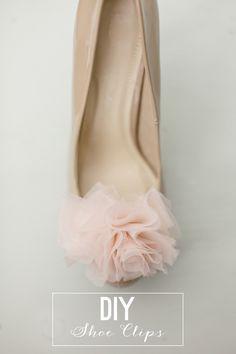 DIY Chiffon Pom Pom Shoe Clips