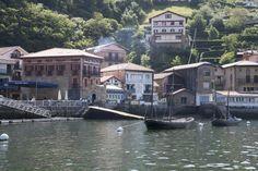 Hafenfjord Passaia / Passajes von San Sebastian, alte Häuser im Ortteil San Juan, Foto: Robert B. Fishman, 3.6.2015