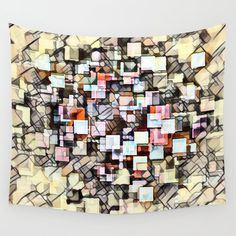 Colorful Tapestry, Society 6 Tapestry, Kandinsky, Cubism, Home Wall Decor, Wall Tapestry, Mosaic, Abstract Art