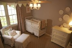 Beige and white nursery. Muted and elegant.