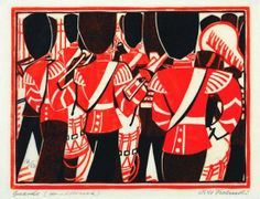 View Guards By Lill Tschudi; linocut printed in colors, on thin japan paper; Access more artwork lots and estimated & realized auction prices on MutualArt. Linocut Prints, Art Prints, Block Prints, Art Cart, Linoprint, Fine Art Auctions, Affordable Art, Print Artist, Printmaking