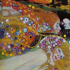 Water Serpents II (detail) by Gustav Klimt   Lone Quixote