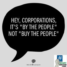 it's By the people, not Buy the people