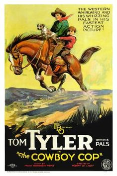 Theatrical poster for the 1926 silent film The Cowboy Cop.