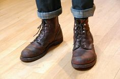 I may be biased because i own a pair but I love them so much. They're everything you need and nothing you don't while being such wonderful looking boots with such fine craftsmanship. Leather Men, Leather Boots, Vintage Leather, Reebok, Adventure Boots, Red Wing Iron Ranger, Rum, Mens Boots Fashion, Unisex Fashion