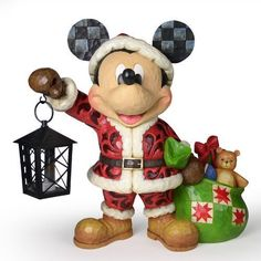 Jim Shore Disney Traditions Santa Mickey w/ Lantern Spirit of Christmas 4029584 for Like the Jim Shore Disney Traditions Santa Mickey w/ Lantern Spirit of Christmas Get it at Mickey Mouse Christmas, Mickey Mouse And Friends, Mickey Minnie Mouse, Hades Disney, Disney Figurines, Christmas Figurines, Collectible Figurines, Christmas Story Books, Charms