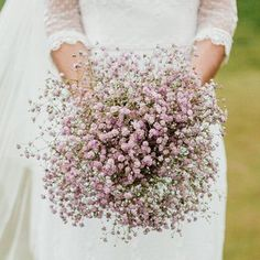 The Surprising Return of Baby's Breath is part of Wedding flowers gypsophila - Style File The Surprising Return of Baby's Breath first seen at the Rodarte show in Paris, the humble Baby's Breath (Gypsophila) is back Bridal Flowers, Flower Bouquet Wedding, Pink Wedding Dresses, Wedding Colors, Glamorous Wedding, Dream Wedding, Elegant Wedding, Trendy Wedding, Rustic Wedding