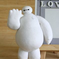 """Hello. I am Baymax, your personal healthcare companion.""  Sew me out of a pair of white socks."