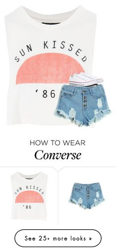 """Untitled #3310"" by laurenatria11 on Polyvore featuring Topshop and Converse"