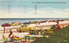 Cocoa Beach 50s you could drive on the beach