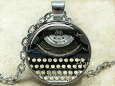 Typewriter pendant Typewriter necklace Typewriter by Aranji