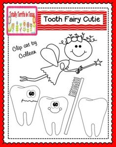 Tooth Fairy Clip Art in Black and WhiteThis little set of dental clip art contains a tooth fairy, 2 teeth with silly faces, blank tooth, and a toothbrush in both jpeg and png. Feel free to use them in freebies and commercial products. Please provide a link to my store or blog if you decide to use them.(Please check out my full terms of use before using)
