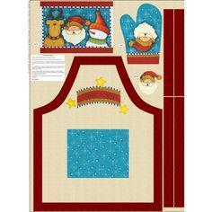 Avental Natal Pronto para Montar - Cor única (Projeto Digital) - Kassy