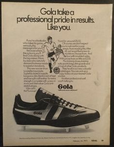 size 40 af7f6 bfd56 A4 Football magazine picture poster GOLA FOOTBALL BOOT ADVERT ((1973)    eBay. Geoff Pitcher · Classic football boots · Nike Tiempo Legend Girls Soccer  Shoes ...