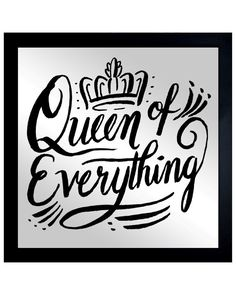 You need to see this Queen of Everything Mirror Art by The Oliver Gal Artist Co. on Rue La La.  Get in and shop (quickly!): http://www.ruelala.com/boutique/product/99063/28175833?inv=gwright33&aid=6191