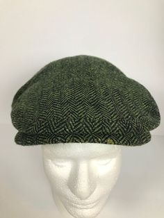 6a4aec09355 Sz Medium Shandon Donegal Ireland Wool Tweed Cap Green  ShandonDonegal   NewsboyCap