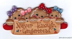 """HP GINGERBREAD """"Never Enough Gingerbread"""" FRIDGE MAGNET in Crafts, Handcrafted & Finished Pieces, Handpainted Items 