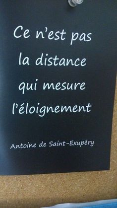 Distance et éloignement