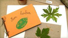 fabriquer un herbier enfant