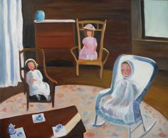 """Dolls Tea Time"", 20"" x 24"" oil on gallery wrapped canvas."