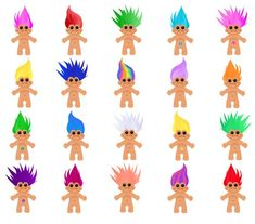 Trolls Birthday Party, Troll Party, Fruit Parfait, Doll Drawing, Drawing Art, Los Trolls, Homemade Invitations, 90s Icons, 90s Theme