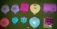 Lot of vintage Polly Pocket Bluebird compacts
