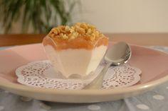 Mousse salata di ricotta con pere noci e miele
