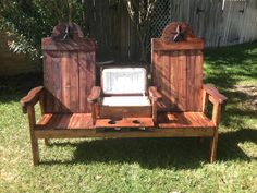 texasoutbackfurniture.com Cedar cooler bench for two
